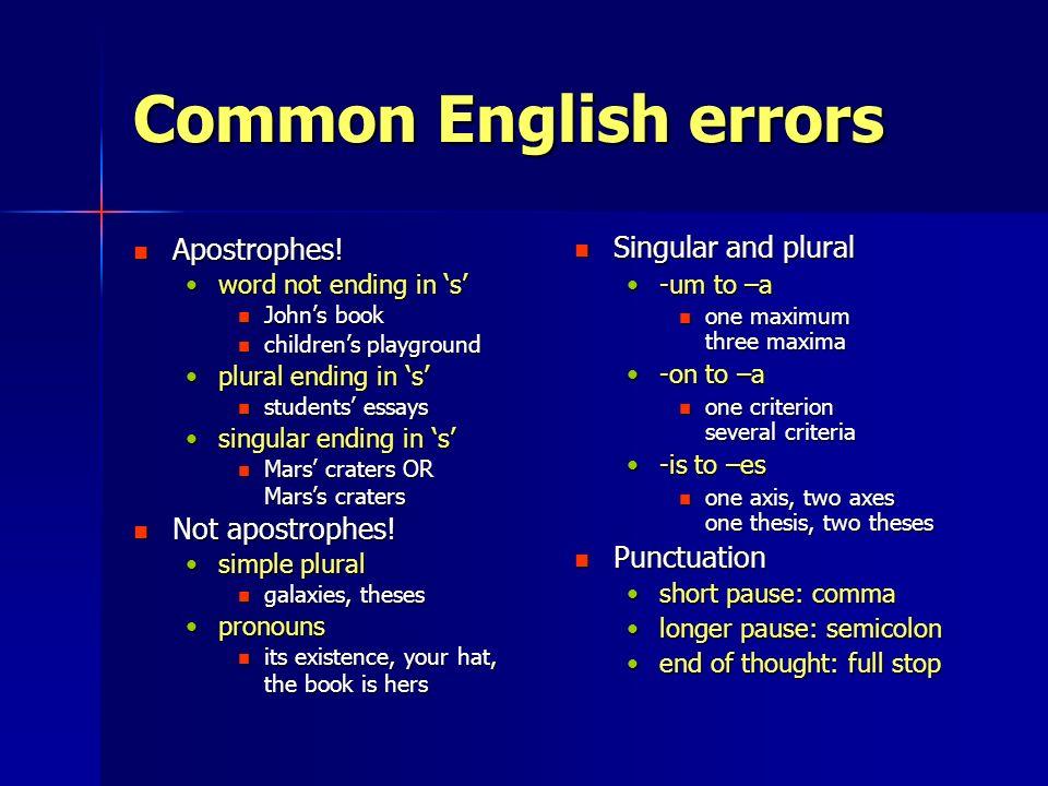 English apostrophes in formal essays.?