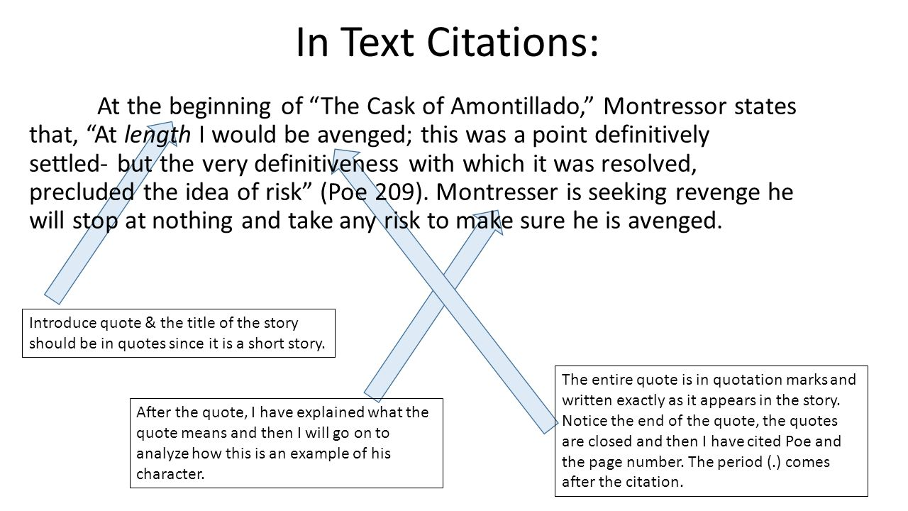 an analysis of the story the cask of amontillado