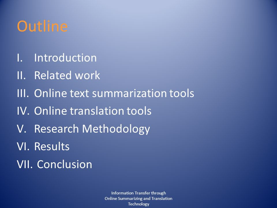 Summarizing online