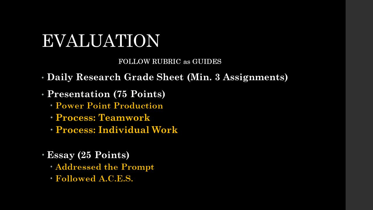 dissertation evaluation rubric