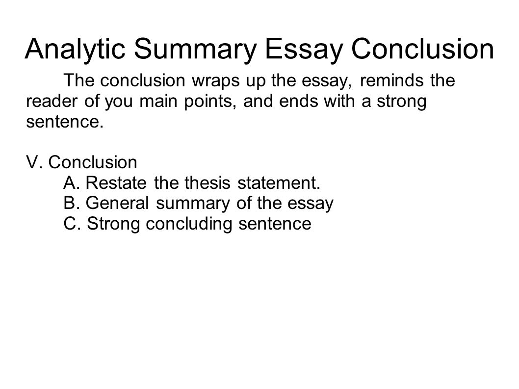 thesis statement for summary response essay