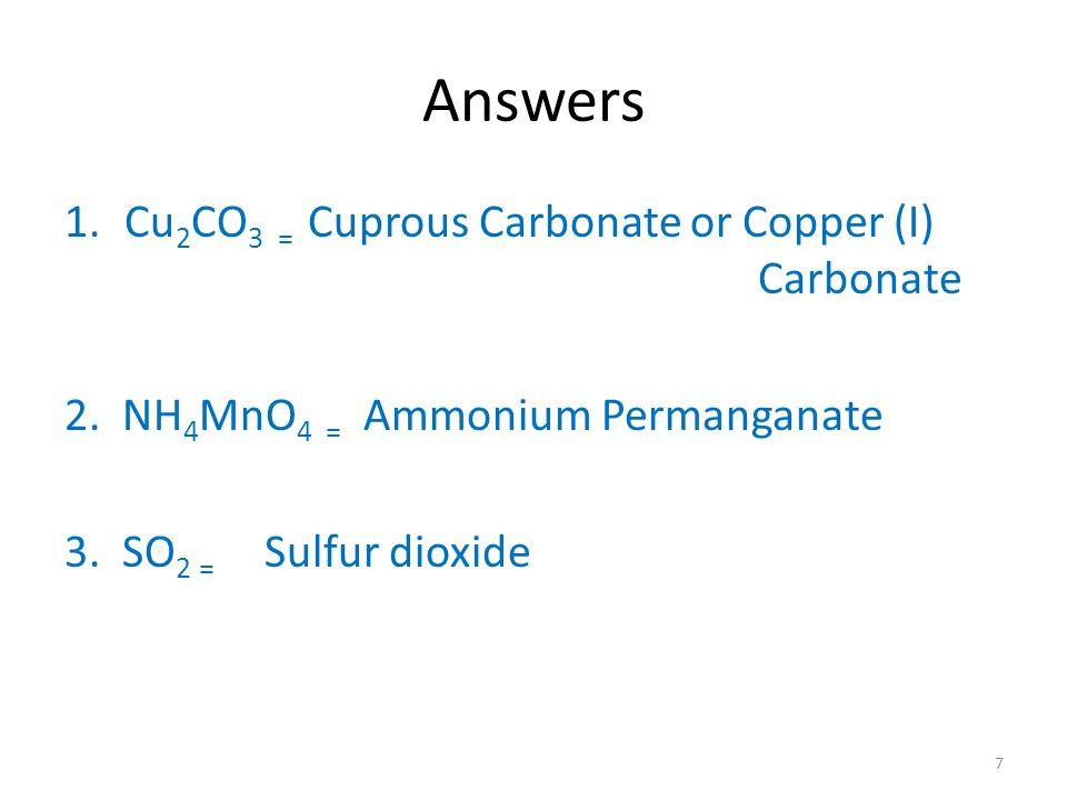 Carbonate Formula Idealstalist