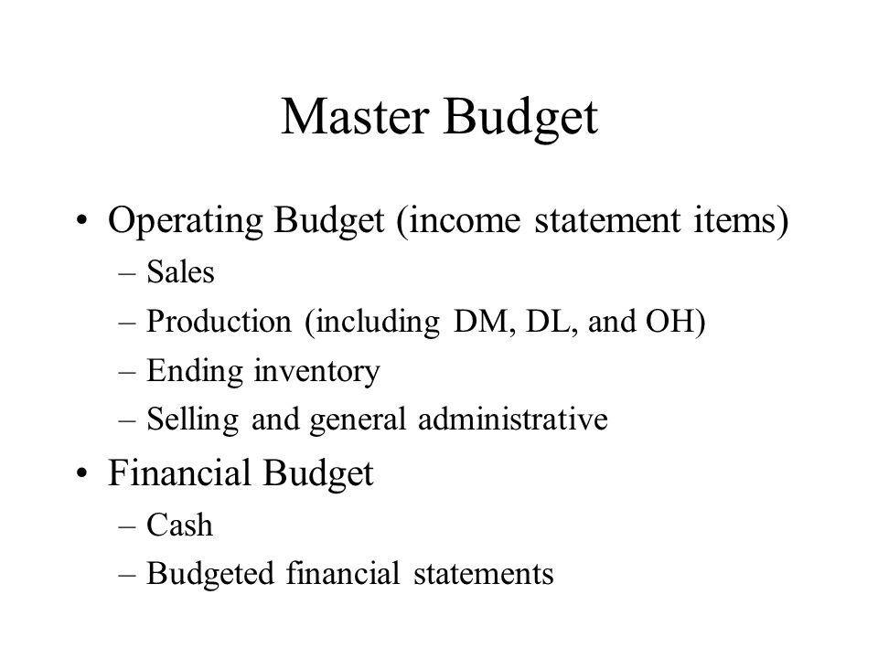 purposes of budgeting essay