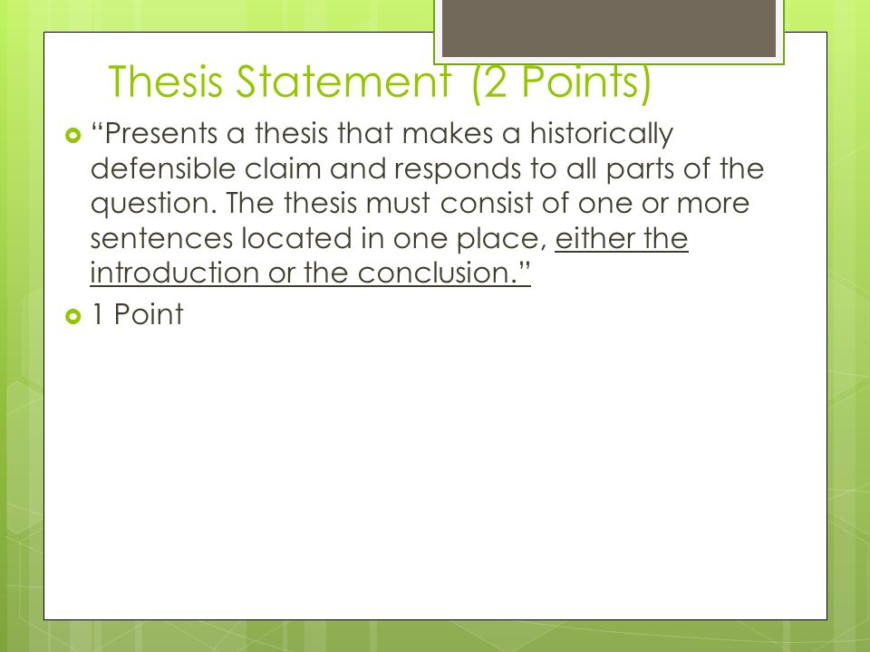 website that makes thesis statements