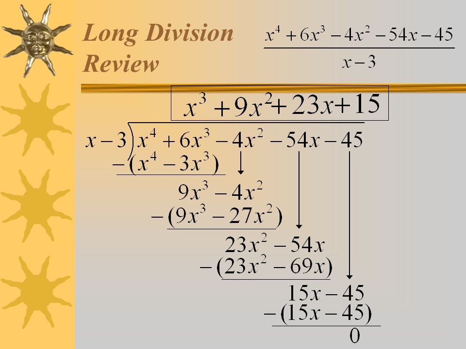 Factor theorem using long division synthetic division 2 long division review ccuart Images