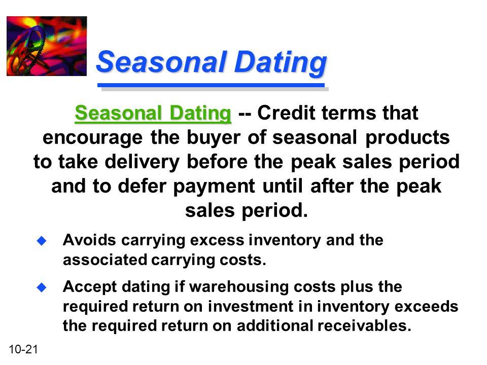 seasonal dating terms