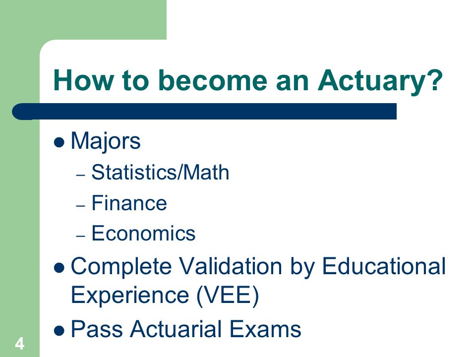 I want to be an actuary. What should I major in?