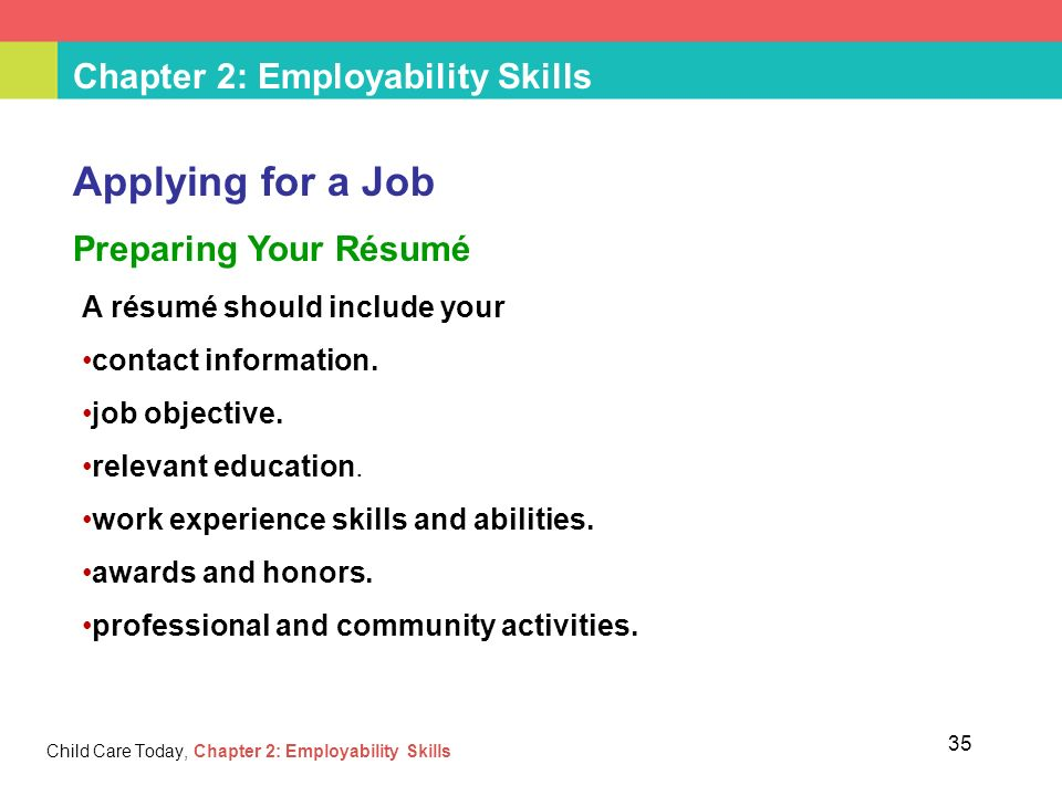 essay about skills for a job
