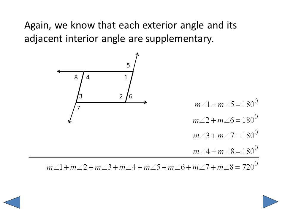 Unit 2 MM1G3 a Sum of the Interior and Exterior angles in Polygons