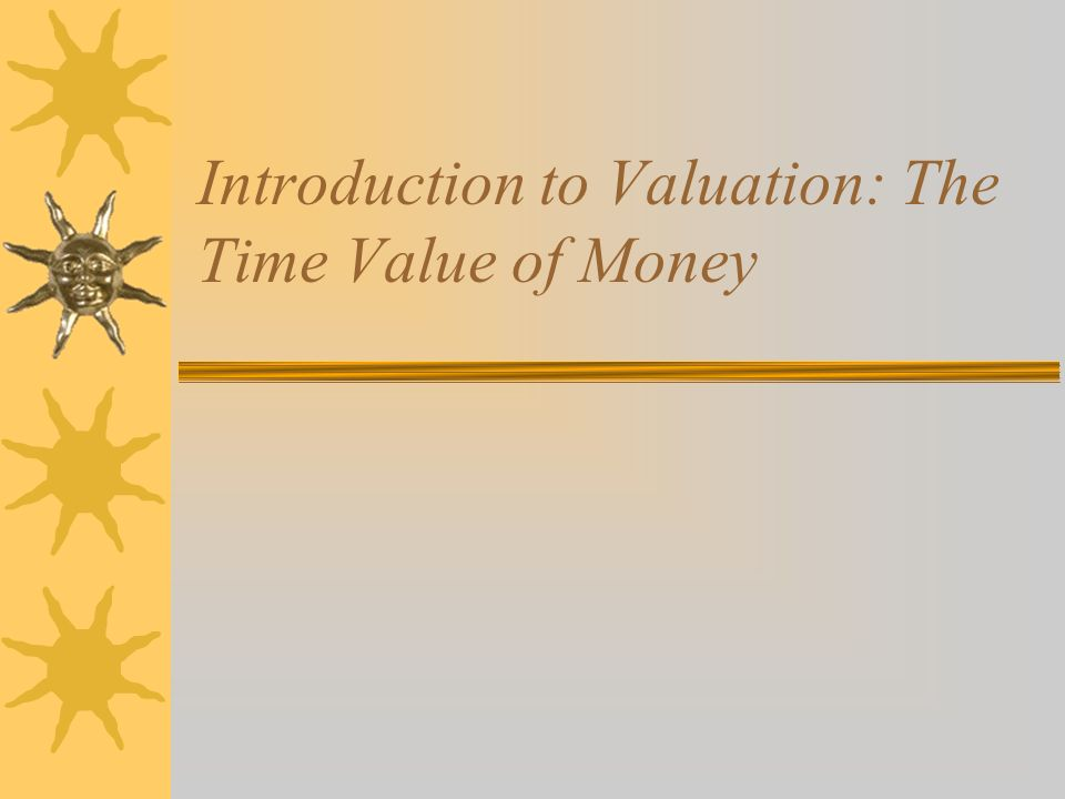 case study on time value of money