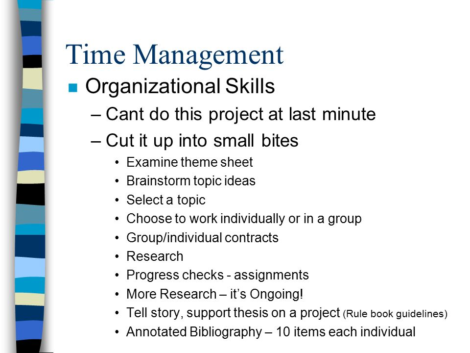 Thesis time management