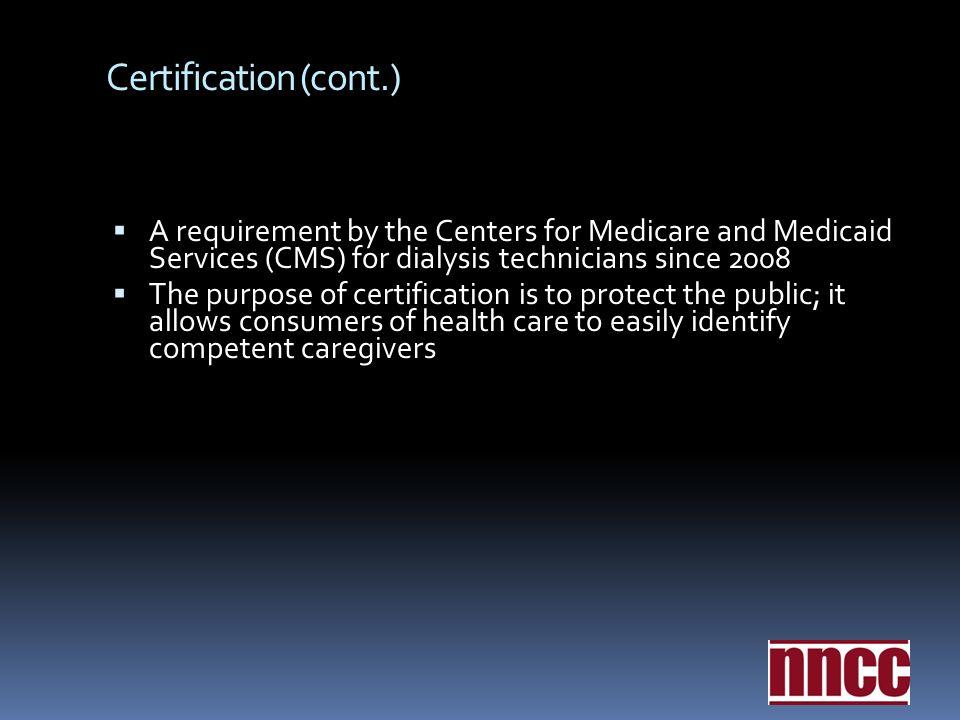 Certification Nephrology Nursing Certification Commission Nncc