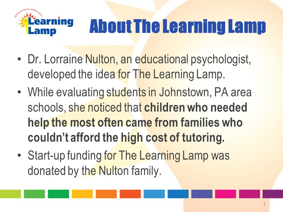 About The Learning Lamp Dr.