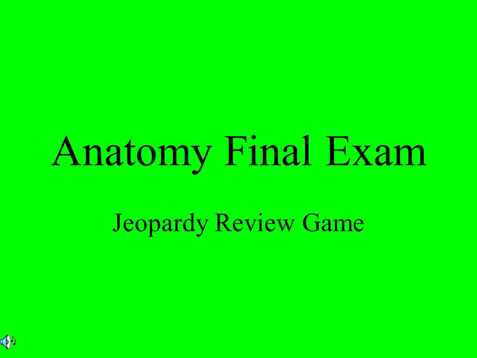 Anatomy Final Exam Jeopardy Review Game Introduction. - ppt download