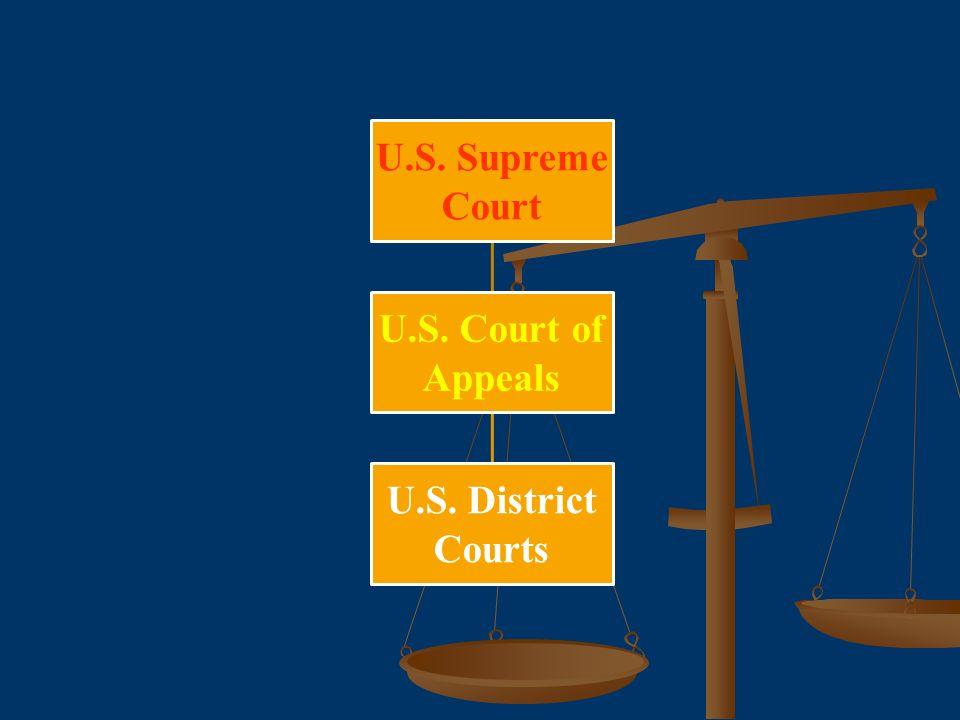 U.S. Supreme Court U.S. Court of Appeals U.S. District Courts