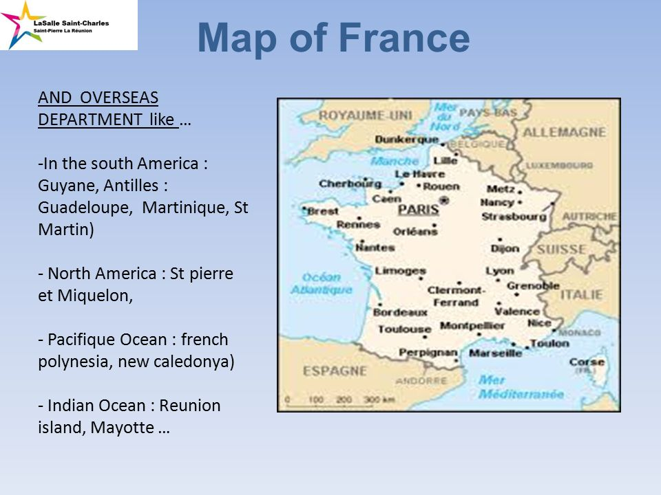 Map of France AND OVERSEAS DEPARTMENT like In the south America