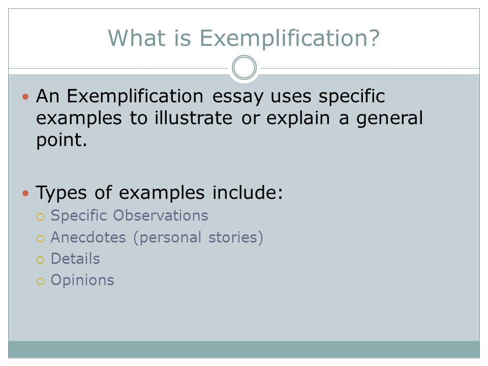 Example Exemplification Essay Exemplification Essay Ideas  Chapter Exemplification What Is Exemplification An What Is Exemplification  An Exemplification Essay Uses Specific Examples To