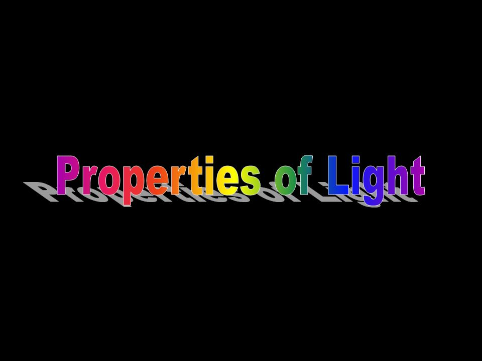 Light is an electromagnetic wave EM wave- a form of energy that ...