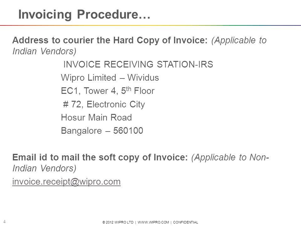 soft copy invoice