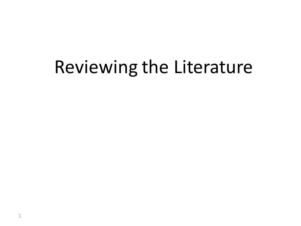 Existing literature