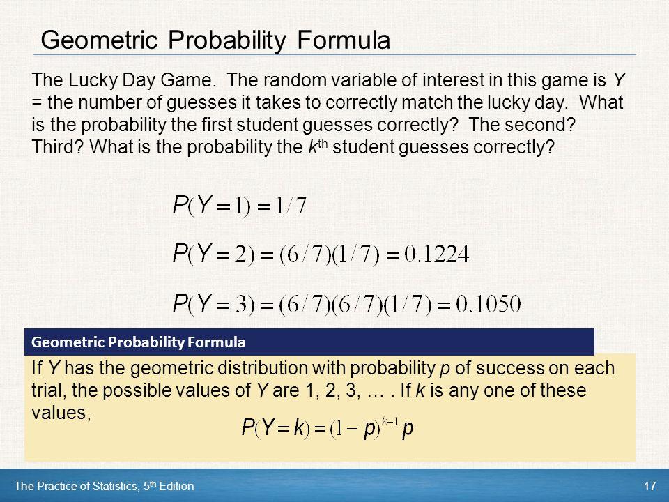 AP Statistics: Geometric Probability Models - YouTube
