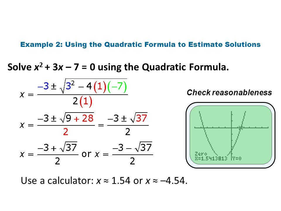 Solve Each Equation With The Quadratic Formula Calculator ...