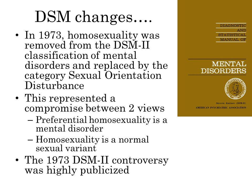DSM changes….