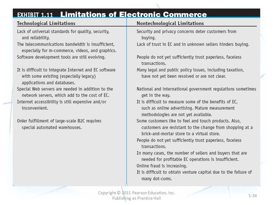 1-34 Copyright © 2011 Pearson Education, Inc. Publishing as Prentice Hall