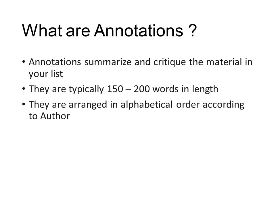 Is an annotated bibliography in alphabetical order   Best custom