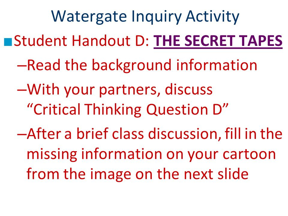 The Watergate Scandal: A Visual Review