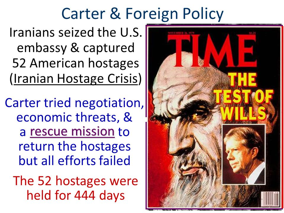 Carter & Foreign Policy But, the situation in the Middle East got worse in 1979 when fundamentalist Islamic cleric Ayatollah Khomeini led the Iranian Revolution Iran's shah was overthrown & was granted asylum in the U.S.