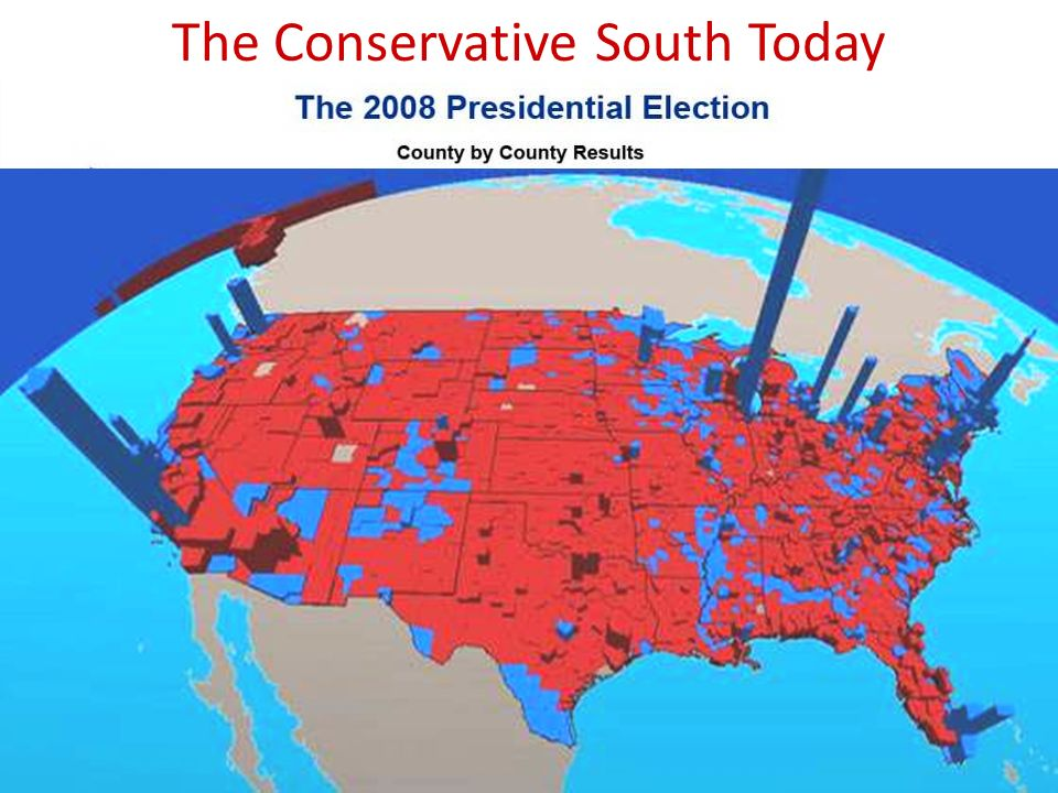 The evolution of the Sunbelt from liberal to conservative ( ) F.