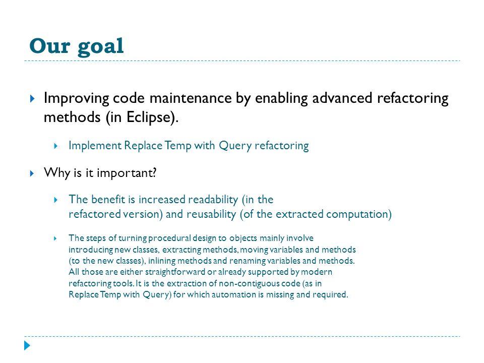 Using Code Refactorings