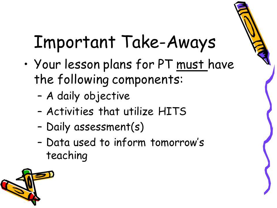 Lesson Planning Session Planning Effective, Standards-Based