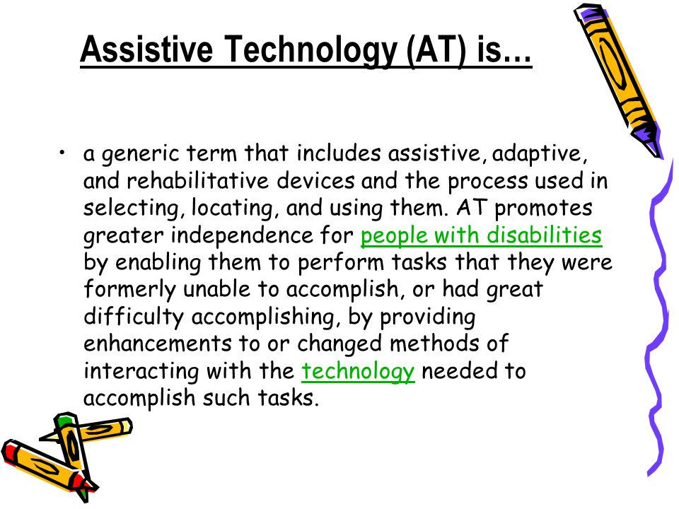assistive technology essay Ebscohost serves thousands of libraries with premium essays, articles and other content including assistive technology in education get access to.