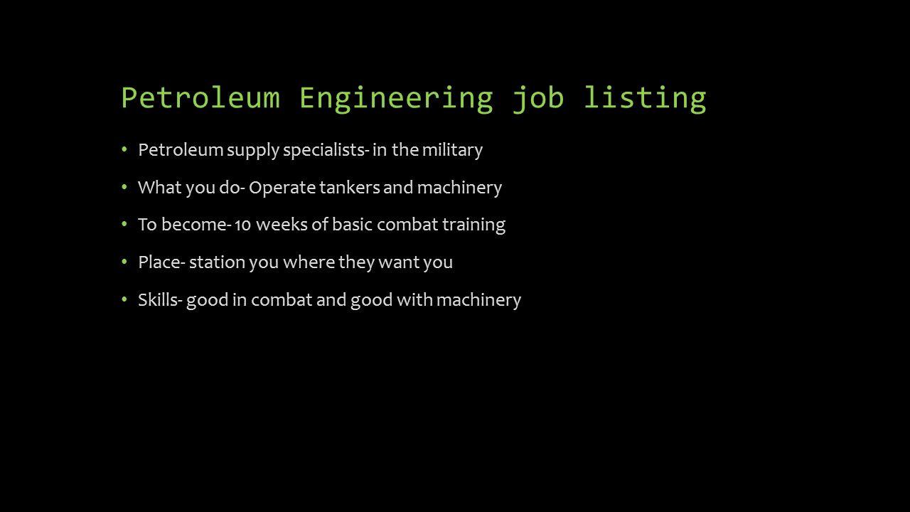 8 Petroleum Engineering Job ...
