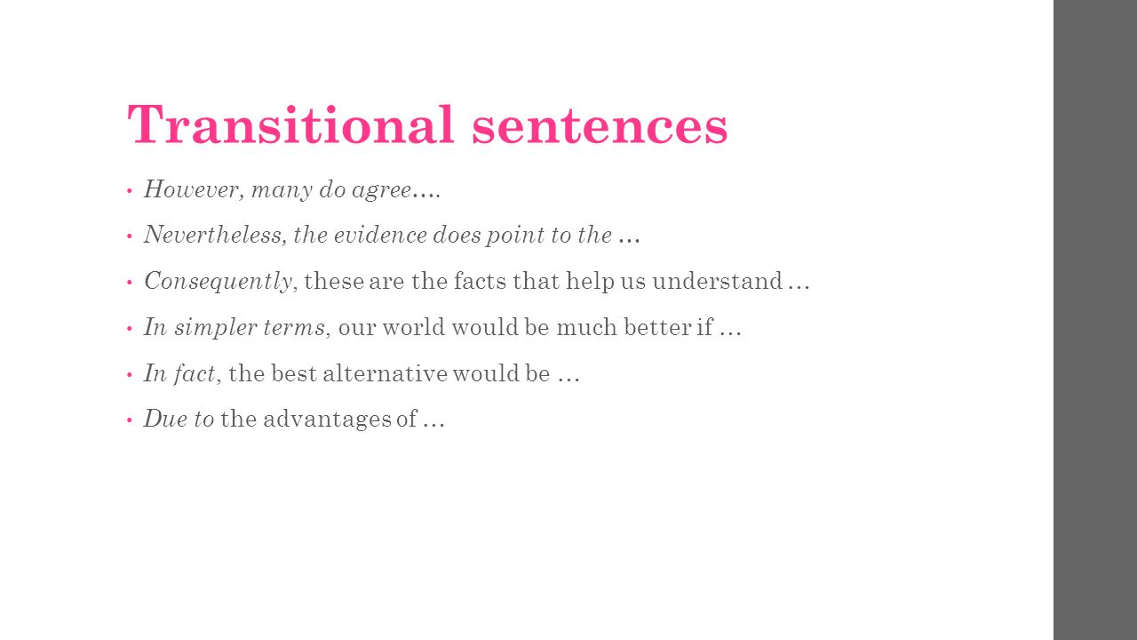 transitional sentences for essays transitional words in essays  argumentative essay take notes types of argumentative essays 8 transitional sentences