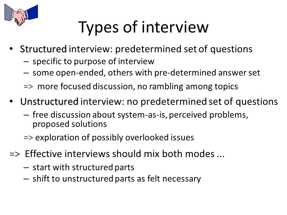 structured interview answers