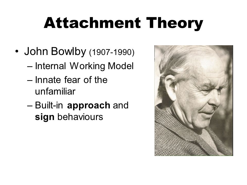 john bowlbys theory on the topic of children and attachment - attachment theory is the joint work of john bowlby and mary ainsworth (ainsworth & bowlby, 1991) drawing on concepts from ethology, cybernetics, information processing, developmental psychology, and psychoanalysis, john bowlby formulated the basic tenets of the theory.