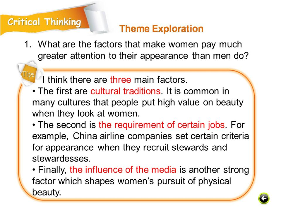 I think there are three main factors.The first are cultural traditions.