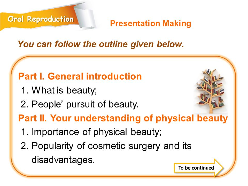 Part I.General introduction 1. What is beauty; 2.
