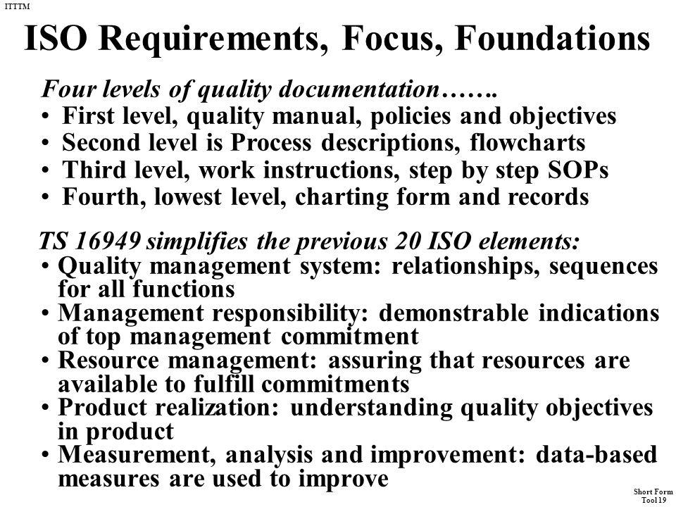 "Short Form Tool 19 ITTTM Tool #19 Short Form ""Kaizen Documentation ..."