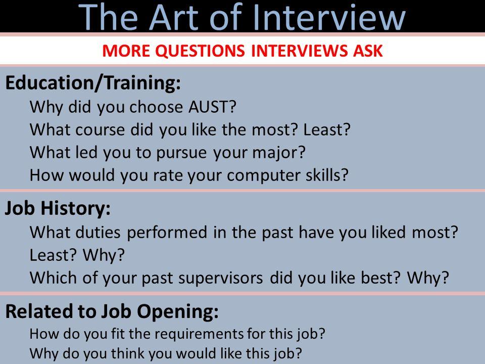 do you like your job