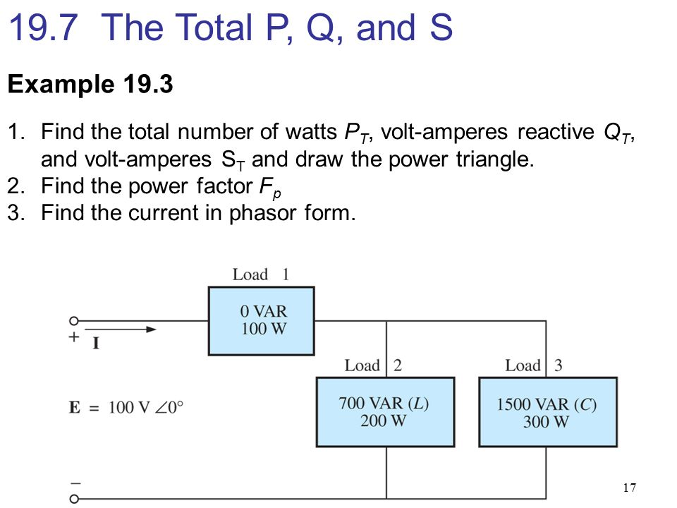 1  Explain and calculate average power, apparent power, reactive ...