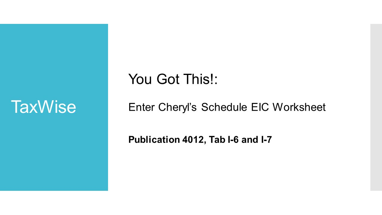 Eic worksheet 2017