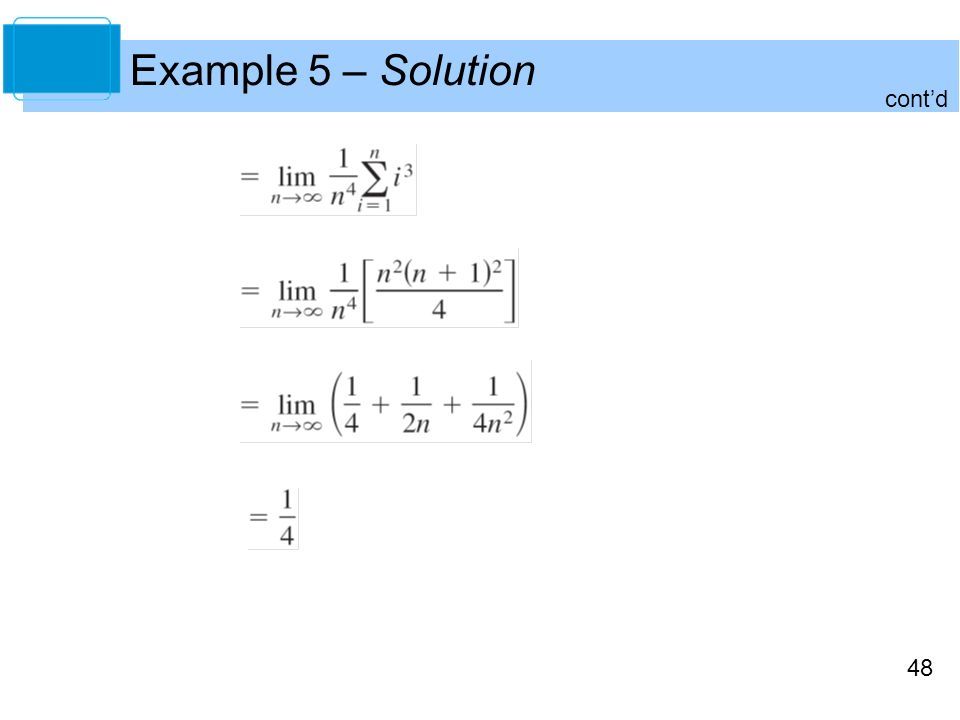48 Example 5 – Solution cont'd