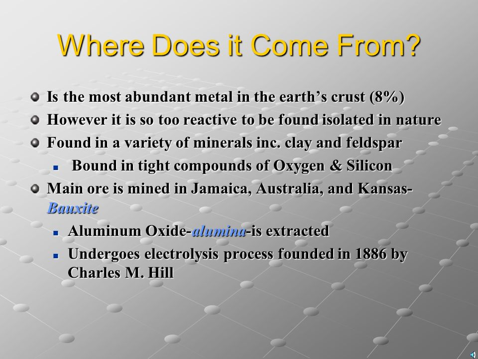 the discovery of aluminum and its features A large majority of aluminum chloride is use to make aluminum aluminum chloride consists of many different properties, some of which haven't been discovered.