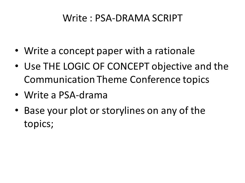 What is an interesting topic to write about for a concept paper?