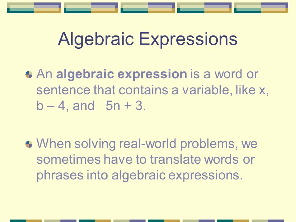 ALGEBRA - Translating MATH 7 INTRODUCTION Topics to be covered ...