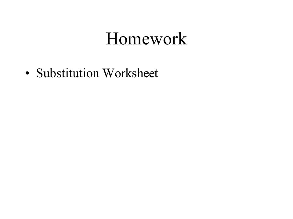 Solving Linear Systems Algebraically with Substitution Section 32 – Solve by Substitution Worksheet